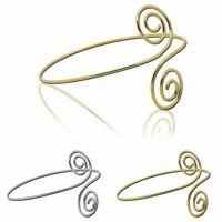 Oberarmreif Armreif Armspange Silbern Golden Bangle Spiralen Accessoires Vintage