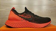 Nike Epic React Flyknit 2 Black Bright Crimson Running BQ8928-008 Pick Size