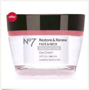 No7 Restore & Renew FACE & NECK MULTI ACTION Day & Nigh Cream