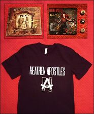 HEATHEN APOSTLES T Shirt, 2 CD Bundle w/ The Cramps, Gothic Roots, hellbilly