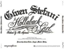 Gwen Stefani: Hollaback Girl PROMO MUSIC AUDIO CD Neptunes Dirty Album Clean 4tk