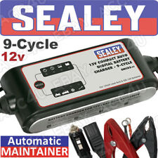 Sealey SMC02 12v Car Bike 9 Cycle Automatic Digital Battery Charger Maintainer