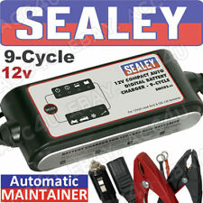 Sealey SMC02 12 V Coche 9 moto ciclo automático Digital Cargador de Batería Mantenedor