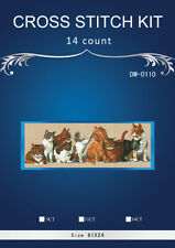 "14 Count Charted Cross Stitch Kit""Cats""61x24cm"