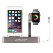 Archeer Charging Dock Station Apple Watch Stand Lightning MFi iPhone 8 X Holder