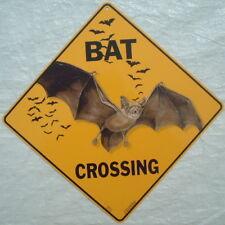 Bat Kreuzung Schild Aluminium Kunstdruck Bild Dekor Vampire Neuheit Heim