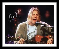 KURT COBAIN - NIRVANA AUTOGRAPHED SIGNED & FRAMED PP POSTER PHOTO