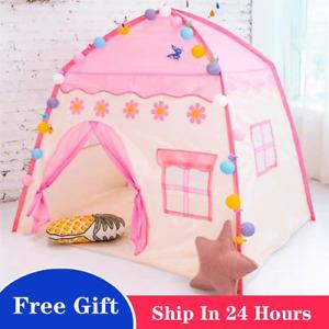 Wigwam Folding Kids Tents Baby Play House Large Child Girls Pink Princess Castle