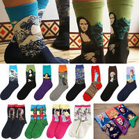 1 Pair Women's Socks Mural Art Casual Socks Men Graffiti Unisex Paintings Sock