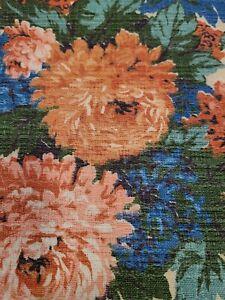 "VINTAGE Cotton Blend 3 Yards × 46"" Carpet Bag type fabric"