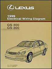 1999 Lexus GS 300 400 Wiring Diagram Manual NEW GS300 GS400 Original Electrical