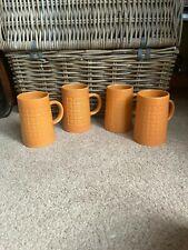 More details for holkham pottery mug vintage unusual orange fabulous retro mcm ceramic