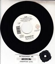"""R.E.M. (REM) Bittersweet Me 7"""" 45 rpm vinyl record + juke box title strip RARE!"""