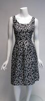 Nine West Black & Silver Sleeveless Fit N Flare Knee Length Dress NWT Sz 4