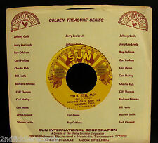 JOHNNY CASH-You Tell Me+Goodbye Little Darling-Rockabilly 45-SUN #40-Reissue