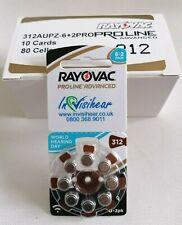 Rayovac Proline Advanced 312 batteries 1.45v Premium Performance 80 cells