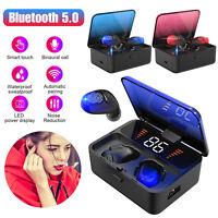 IPX7 TWS Bluetooth 5.0 Headset Wireless Earphones Mini Earbuds Stereo Headphones