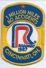 Roadway 1987 Cincinnati Oh 1 million miles no accident driver patch 4-1/8X2-5/8