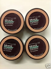 4 X Maybelline Mineral Power Foundation Powder 0.14 Oz/4 g PURE BEIGE MEDIUM-2