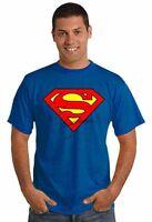 T-Shirt SUPERMAN MAGLIA-maglietta-FELPA HAPPINESS UOMO NUOVA TG. S-M-L-XL-XXL