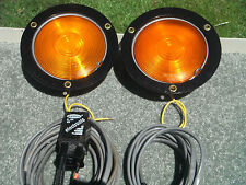 SHO-ME RECESSED AMBER WIG-WAG WARNING LIGHT SYSTEM W/ ELECTRONIC FLASHER & CABLE