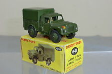DINKY TOYS  MODEL No 641 ARMY 1-TON CARGO TRUCK       VN  MIB