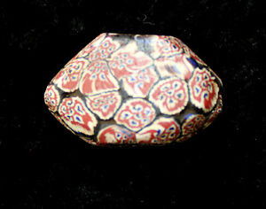 """VERY RARE 8 SIDED 19TH -EARLY 20TH C AFRICAN VENITIAN TRADE BEAD 1 1/2"""" X 1/2"""