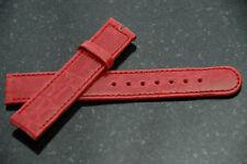 Perrin-Tiffany Tesoro 17mm Crocodile Watch Strap Red