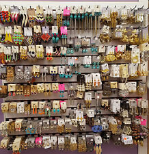 Wholesale Fashion Jewlery 100 Pair of Earrings New Mixed Lot