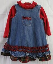 The Childrens Place Girls  Baby/ Toddler Jean  3 Piece Dress Set  6-9 Months