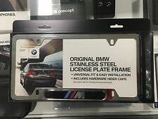 BMW Polished Stainless M License Plate Frame OEM 82120010405