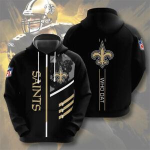 New Orleans Saints Fans Hoodie Football Hooded Sweatshirt Pullover Casual Jacket