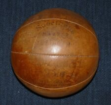 Antique Exercise Leather Gymnasium Ball Box Exercise Gym Sport Medicine Ball