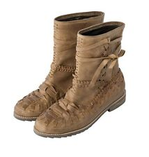 New Agua Bendita Bendito Territorio African Valley Leather Ankle Boots 38 8
