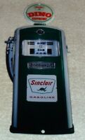 "VINTAGE SINCLAIR DINIO SUPREME SERVICE STATION GASOLINE PUMP 12"" METAL OIL SIGN!"