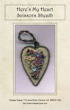 Here's My Heart Scissors Sheath - Pattern by Janet Stauffacher - To Fit Scissors
