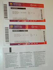 3 USED TICKET FC BARCELONA Entrada Entrance FCB BARCELONE STADIUM Camp Nou FOOT