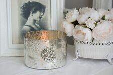 Bauernsilber Schale Windlicht Vase Topf Übertopf Shabby Vintage Deko Landhaus 3