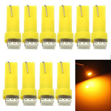 10X Amber Led T5 5050 LED Lamp Car Gauge Dashboard Instrument Light Replacement