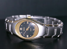 Bijoux Terner women's watch, oval face, gold and silver, fresh battery, K-2730