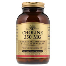 NEW SOLGAR CHOLINE SUPPORTS HEALTHY BRAIN & CELLULAR FUNCTION DIETARY SUPPLEMENT
