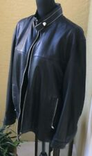 Zegna Sport Men's leather jacket in Black size XL in excellent condition