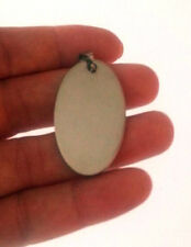 bijoux fantaisie pendentif pour collier en acier inox OVALE PLAQUE DE gravure