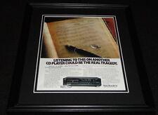 1988 Technics SL-P999 CD Player Framed 11x14 ORIGINAL Advertisement