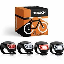 TRIXSON Bike Lights, Set of Front and Back | 2-Pack LED Bicycle Headlight Set