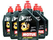 5 x 1 Litro Motul Gear 300 aceite motor 75w90 gl-4 gl-5 CAJA DE CAMBIOS MANUAL