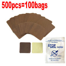 500pcs Natural Solution Anti Smoke Patch Stop Smoking Aid For Smoking Cessation