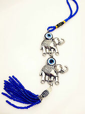 Religious Diamante Elephant Evil Eye Car House Lucky Charm for Safety Protection