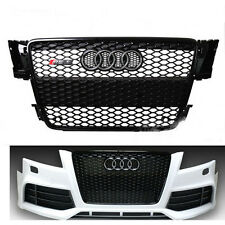 RS5 Honeycomb Black Mesh Grill Front Grille for Audi A5 S5 RS5 8T 2008-2012