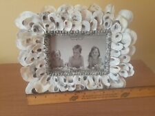 Mud Pie Natural Oyster Shell 4x6 Picture Frame.